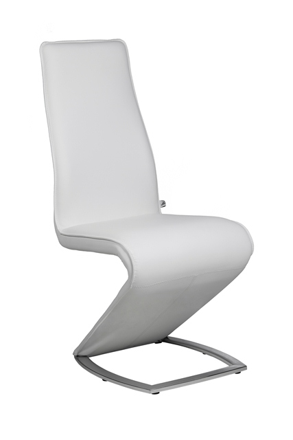 Z II   NEW EDITION Designer White Leather Dining Chair / Chairs